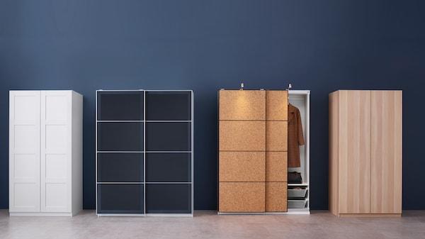 PAX Kleiderschranksystem - damit hat man endlose Möglichkeiten, egal ob offene oder geschlossene Aufbewahrung