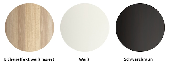 PAX Korpusse sind erhältlich in Weiß, Schwarzbraun und Eicheneffekt weiß lasiert