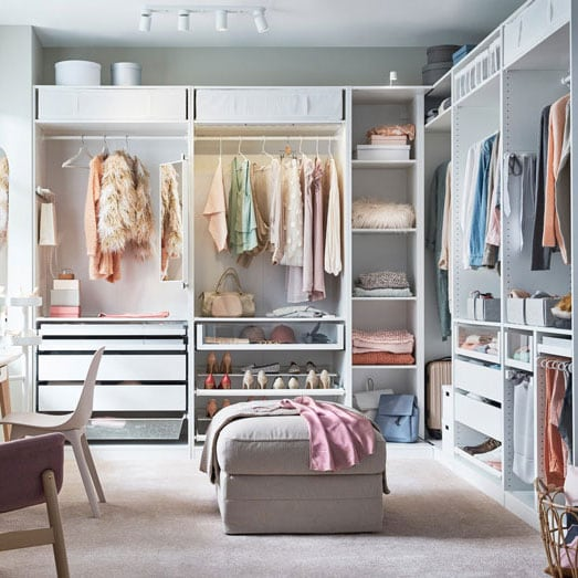 PAX walk-in wardrobe combination, white.