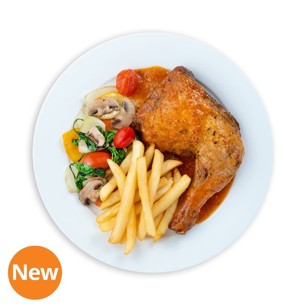 Peri Peri Chicken with French Fries & Mix Vegetables