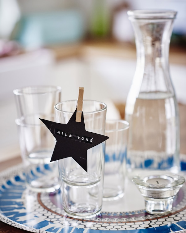 Personalising your table settings will make guests feel welcome –and allow you to control where they sit!