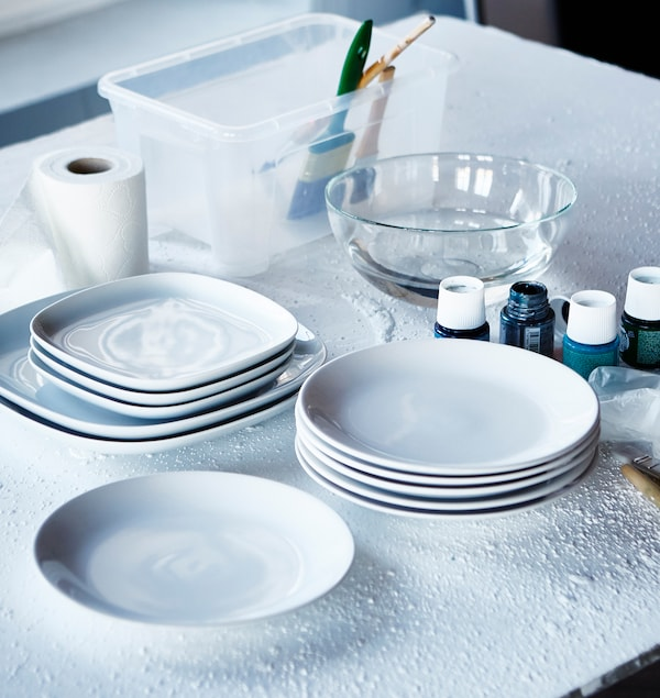 Personalizar platos IKEA blancos paso a paso