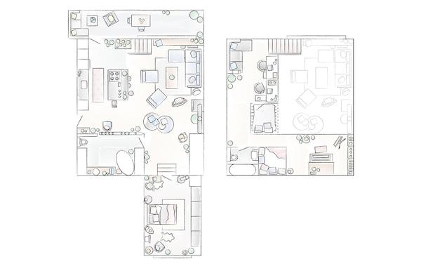 Piantina dell'appartamento di Konstancja e Jurij – IKEA