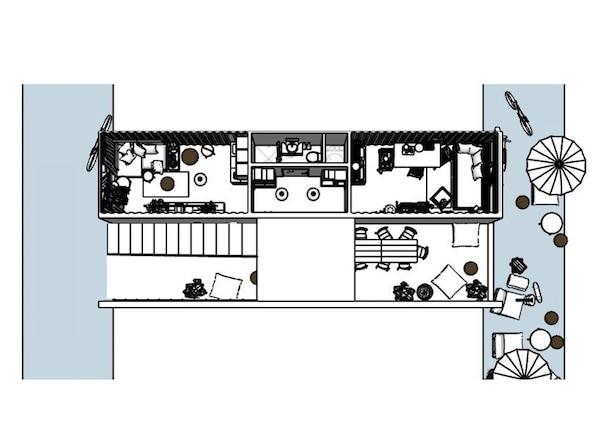 Piantina di due container abitativi – IKEA