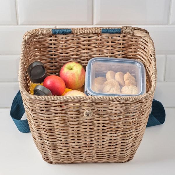 picnic baskets and backpacks