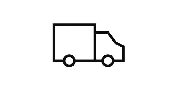 Pictogram av en lastebil.