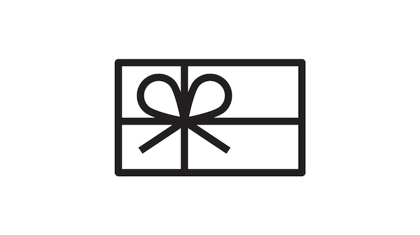 Pictogram of a Gift Card.