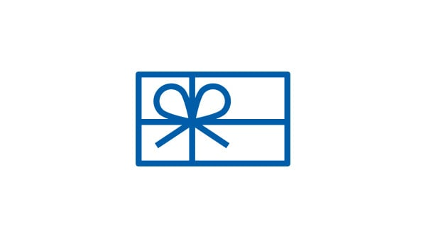 Pictogram of a gift card
