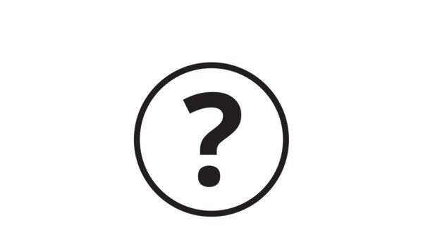 Pictogram of a question mark.