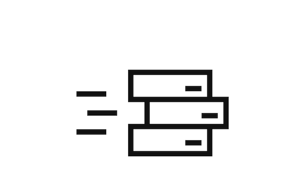 Pictogram of boxes.