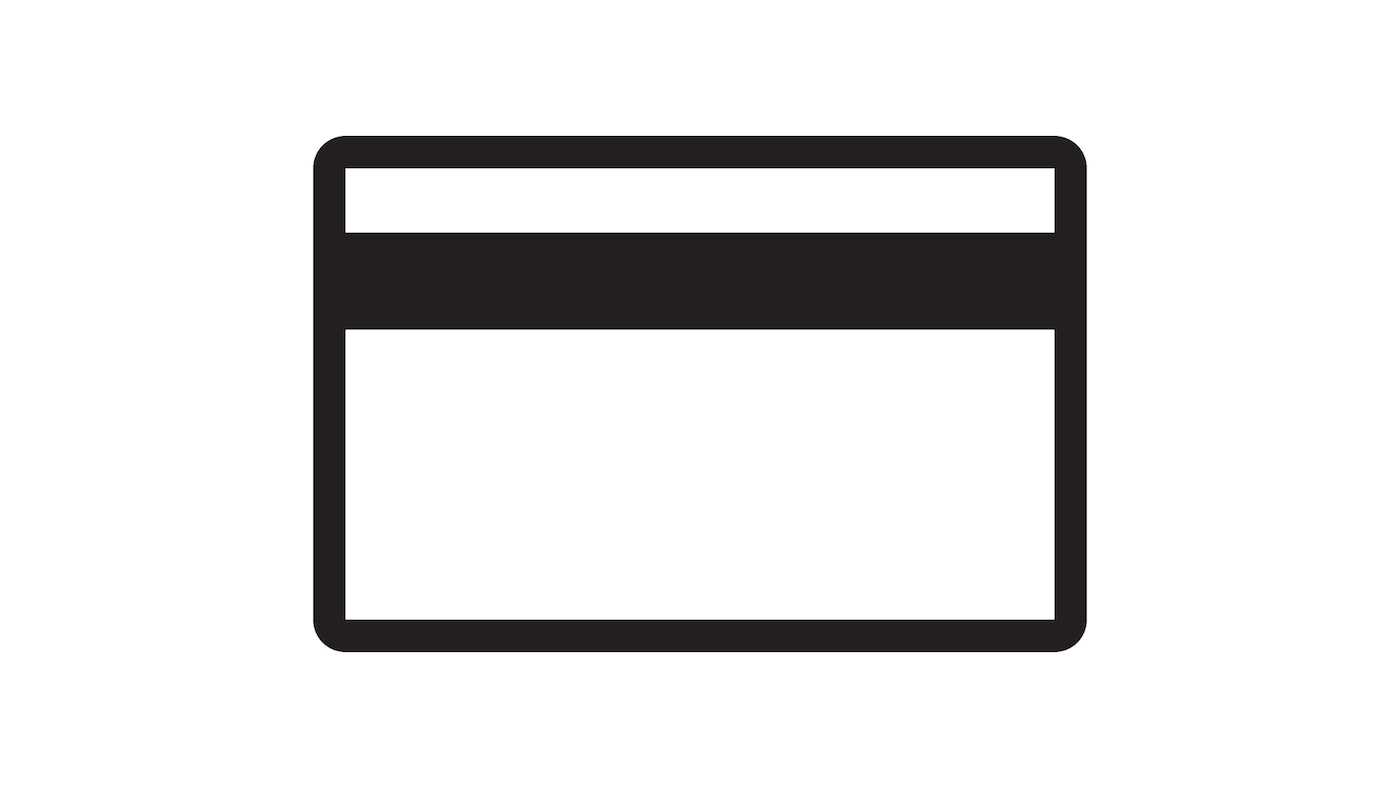 Pictograma de um cartão de crédito