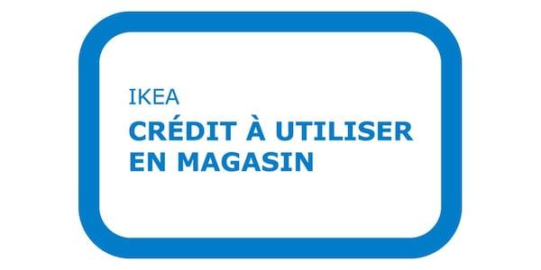 Pictogramme bleu représentant une carte de crédit en magasin IKEA.