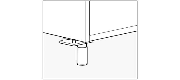Pieds de meuble de cuisine IKEA