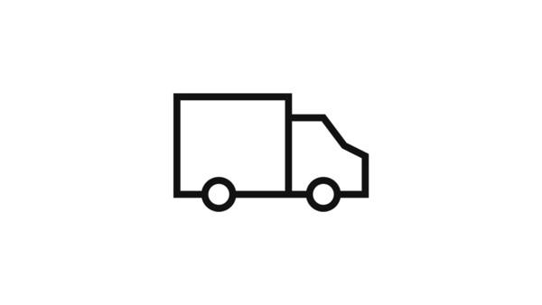 Piktogram nákladného auta.