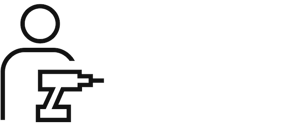 Piktogram osobe koja drži alat