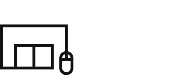 Piktogram robne kuće i miša za računalo