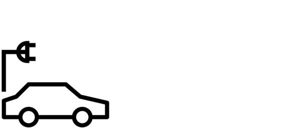 Piktogram vozila i kabela za punjenje na struju