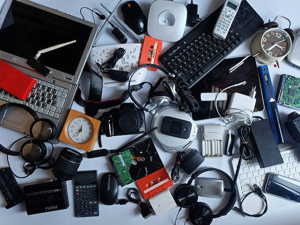 Pile of random electronics