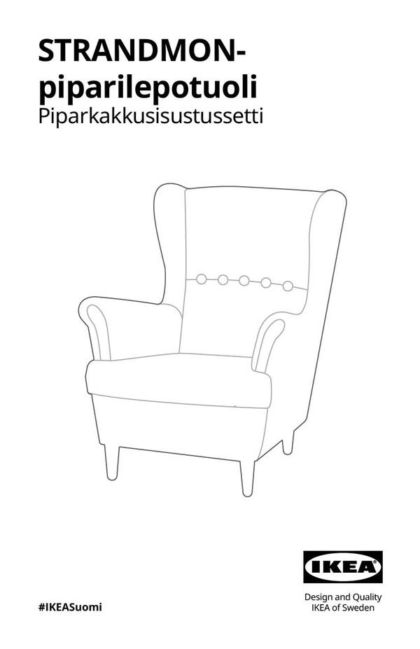 Piparisen STRANDMON-lepotuolin kokoamisohjeet.