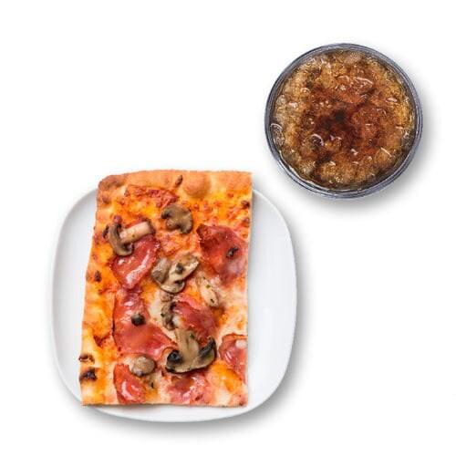 Pizza al corte + bebida