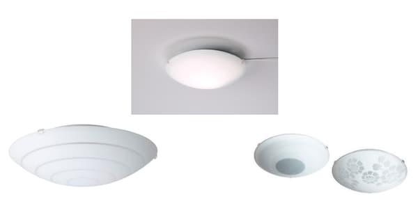 Plafondlampen HYBY, LOCK en RINNA