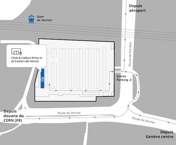 Plan Click & Collect - Drive-in et des casiers de retrait à IKEA Vernier