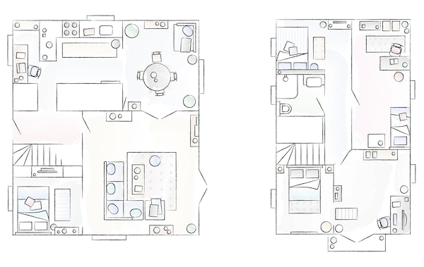 Plan de la maison d'Anne.