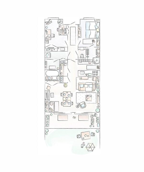Plan de la maison de Mieko
