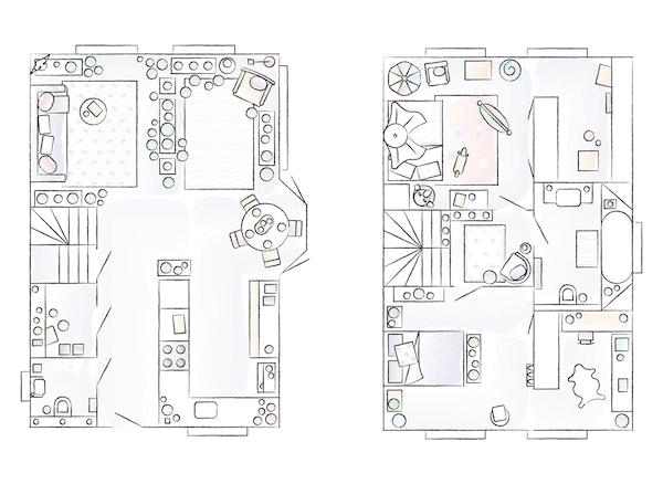 Plan de la maison de Miriam.