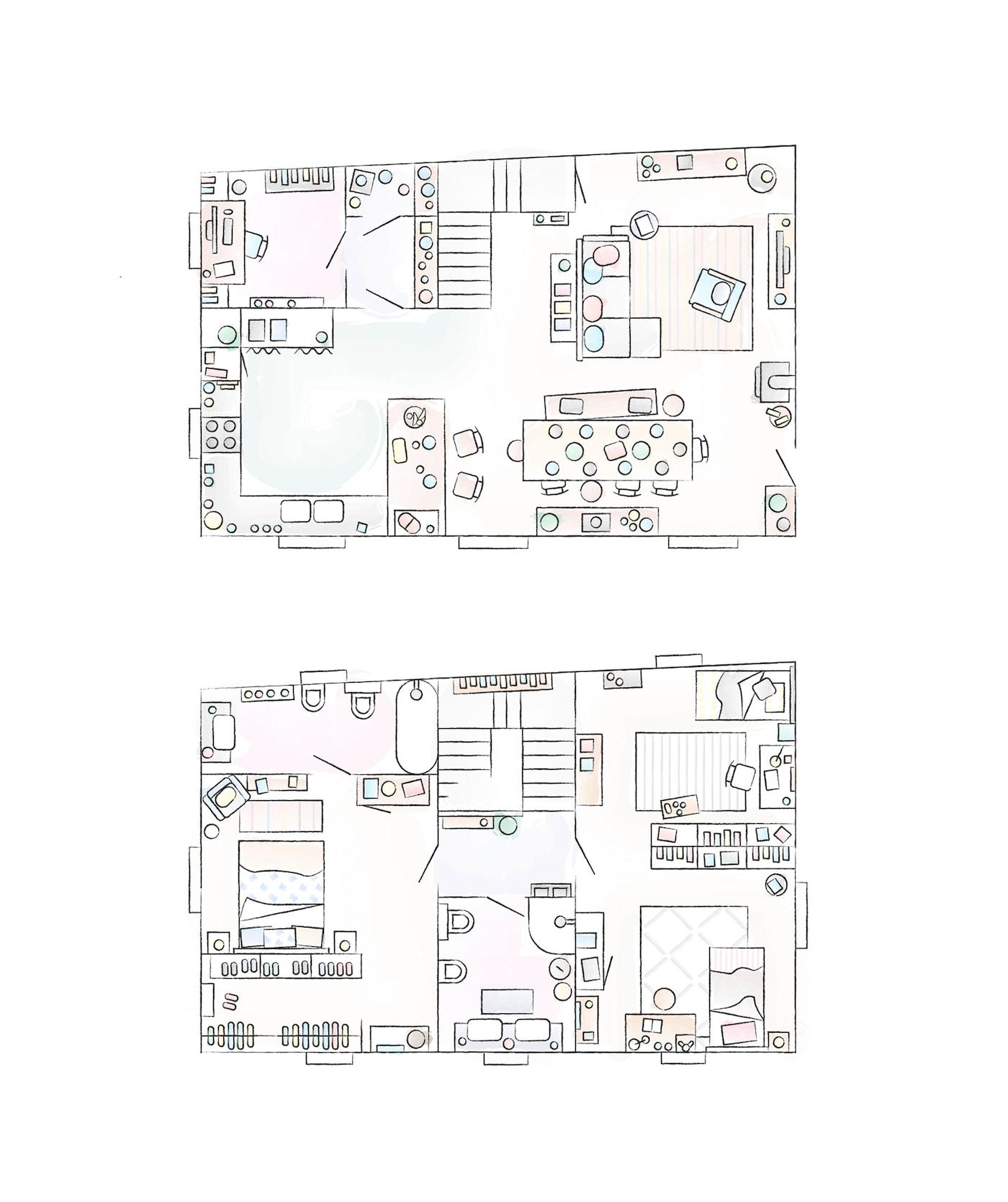 Plan de la maison de Sarah.