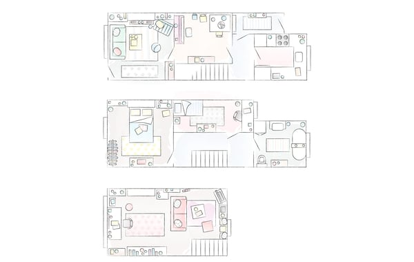 Plan de la maison de Toni.