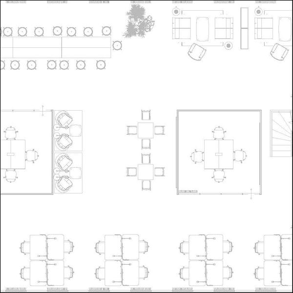 Plan d'étage. Dessin de la pièce d'en haut avec arrangement de meubles.