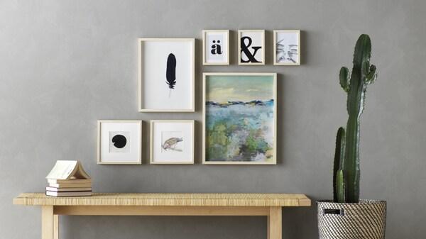 Planifica la decoración de tu pared