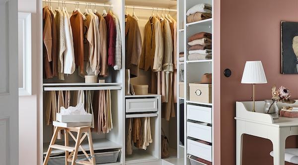 Planification d'armoire-penderie