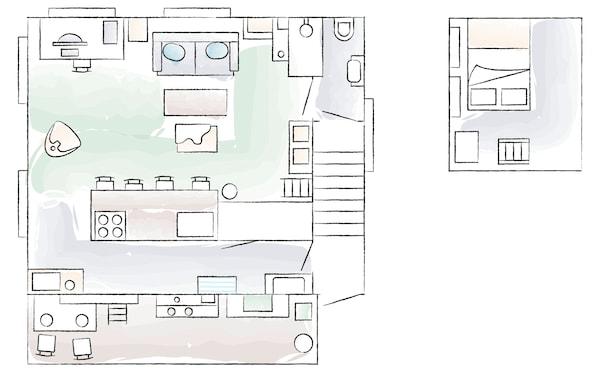 Plano de la casa de Kaoli en Tokyo