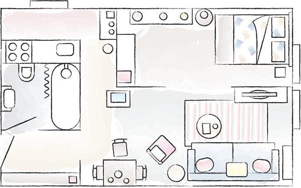 Plano de planta de la casa de Igor.