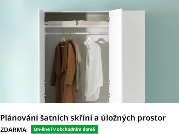 Plánování šatních skříní a úložných prostor.