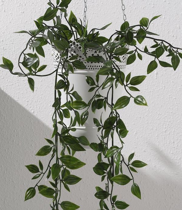 """Plante artificielle en pot, intérieur/extérieur, à accrocher, 3 ½ """" (9 cm)"""
