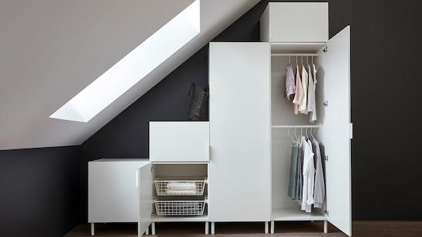 PLATSA creative drawers and storage options.