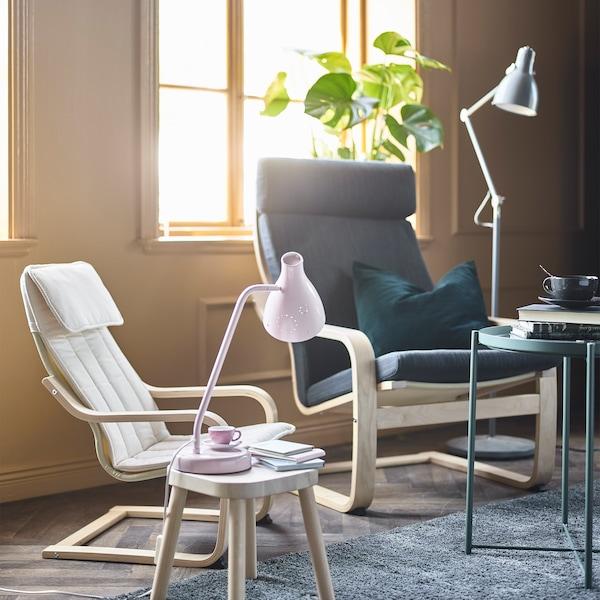 POÄNG armchair and a POÄNG children's armchair
