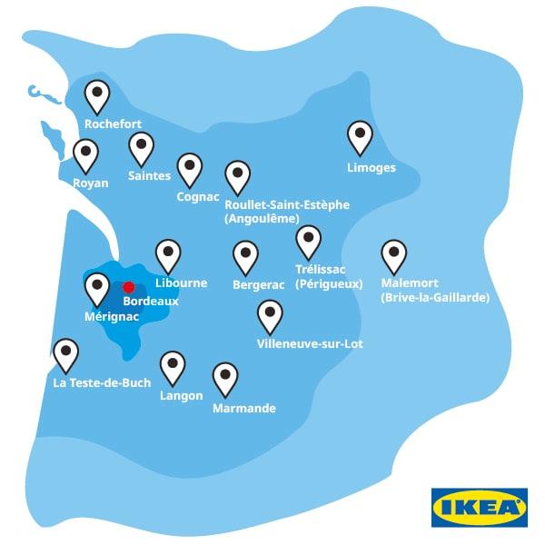 Point de retrait IKEA Bordeaux