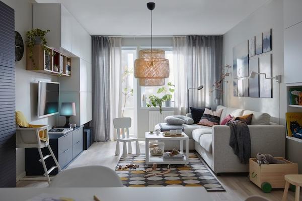 Pokój dzienny z sypialnią