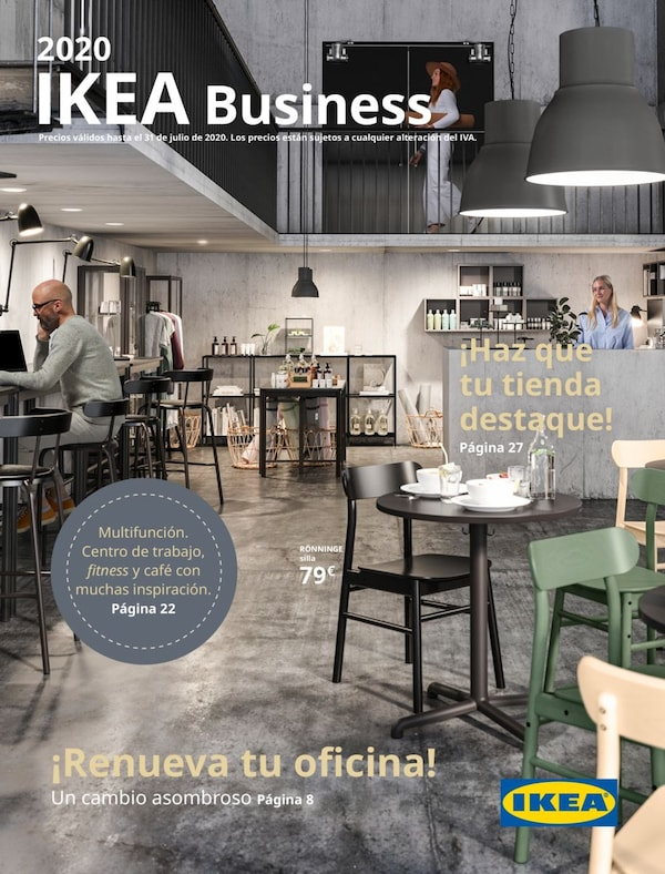 Portada do folleto de IKEA Business 2020