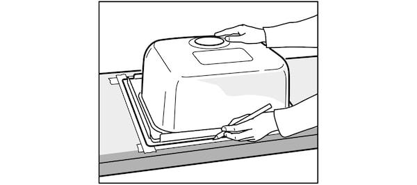 Pose de l'évier de cuisine IKEA