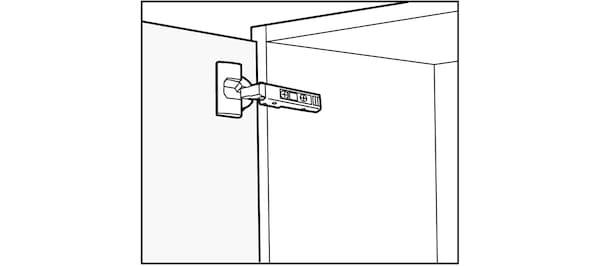 Pose des charnières des portes de cuisine IKEA