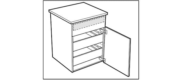 Pose des portes des caissons de cuisine IKEA
