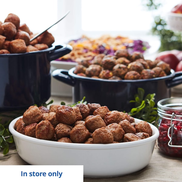 Pots filled with delicious IKEA Swedish meatballs