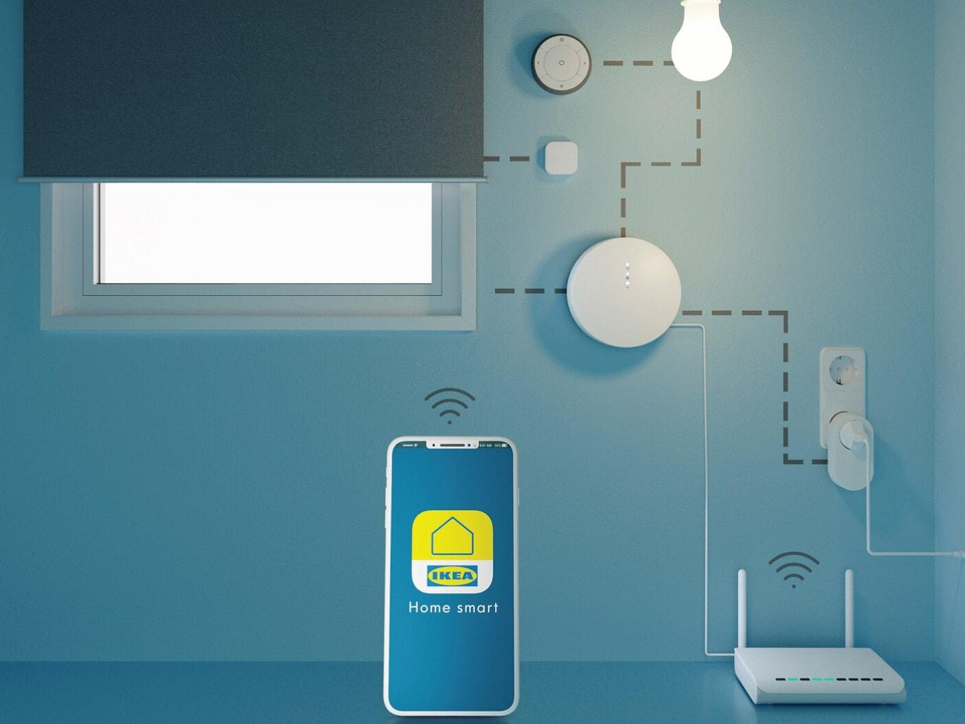 Pregled veza u konfiguraciji aplikacije IKEA Home smart.