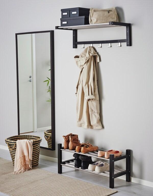 Прихожая с вешалкой, полкой для обуви, зеркалом из серии ЧУСИГ