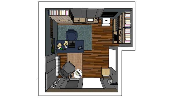 Progetto ufficio luigi galimberti, IKEA, disegni di progetto